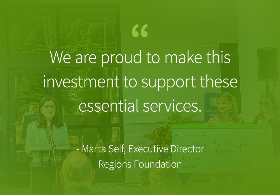 """""""We are proud to make this investment to support these essential services."""" Marta Self Executive Director Regions Foundation"""
