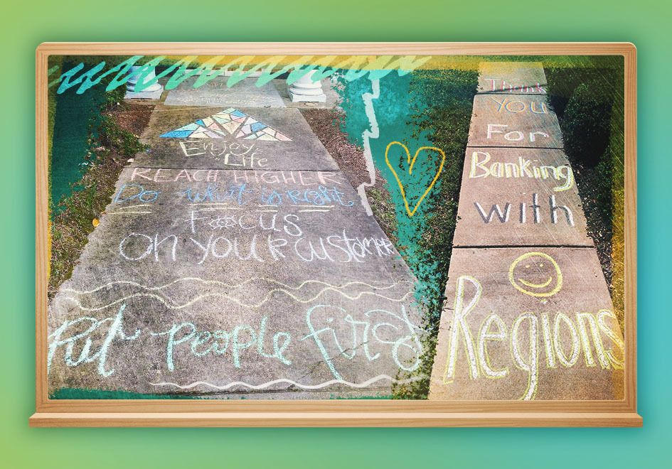 #ChalkTheWalk: A Colorful Approach to Service while Social Distancing