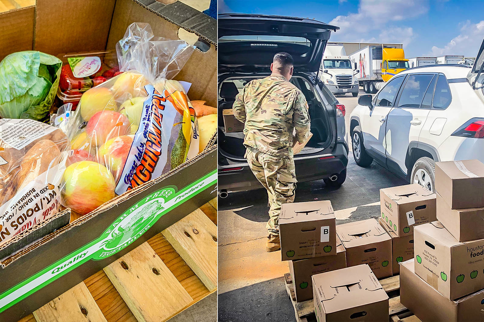 Providing boxes filled with nutritious options like fresh produce is a priority at food distribution events.