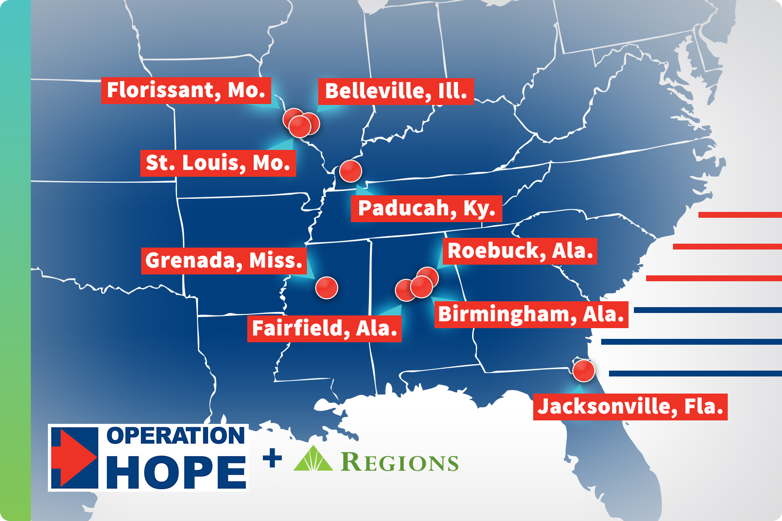 Regions supports HOPE Inside counseling and workshops in cities across the Southeast and Midwest.