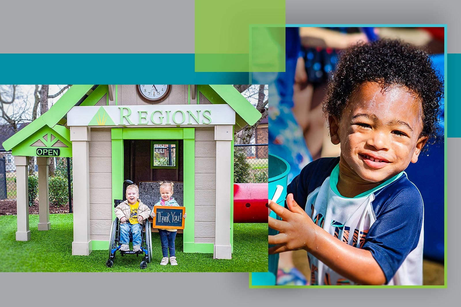 Regions contributed to a bank playhouse for High Hopes students to enjoy as part of the school's playground.