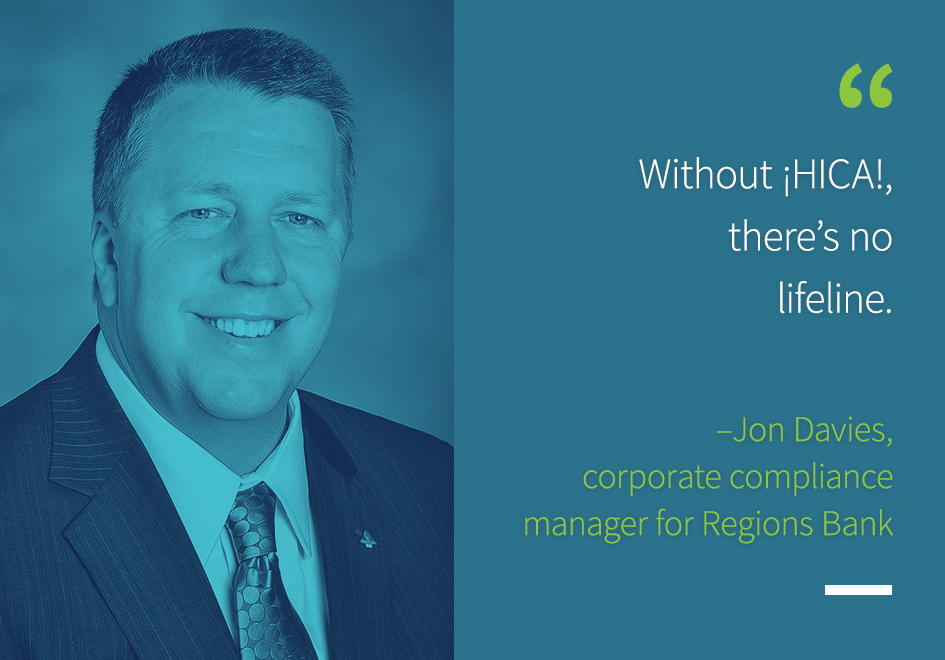 Jon Davies, corporate compliance manager for Regions Bank