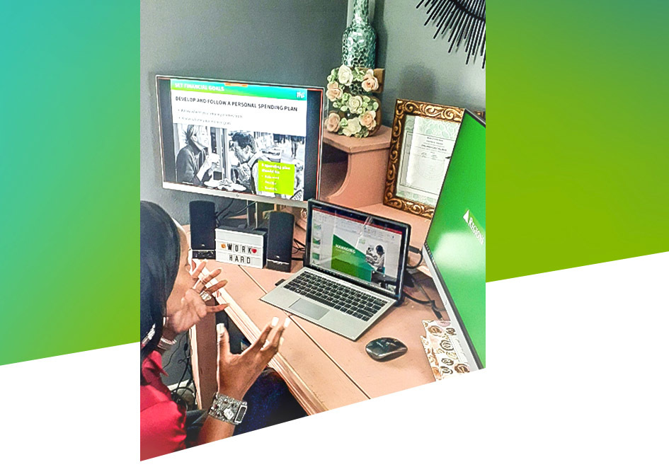 Regions Financial Wellness Manager Shalonda Tillman delivers financial education virtually.