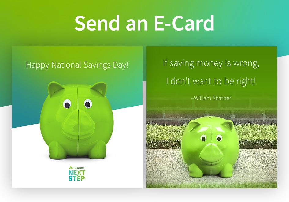 National Savings Day E-Cards