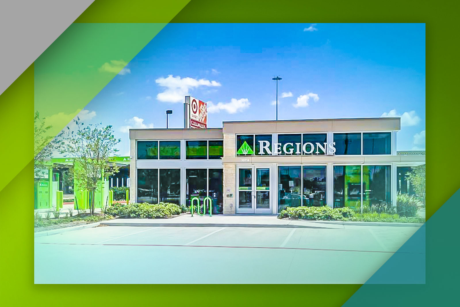 Regions' new Brazos Town Center branch is at 23716 Southwest Freeway in Rosenberg.