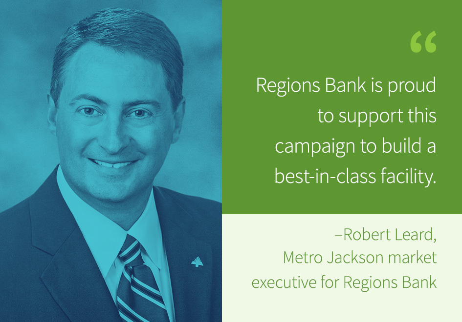 Robert Leard, Metro Jackson market executive for Regions Bank