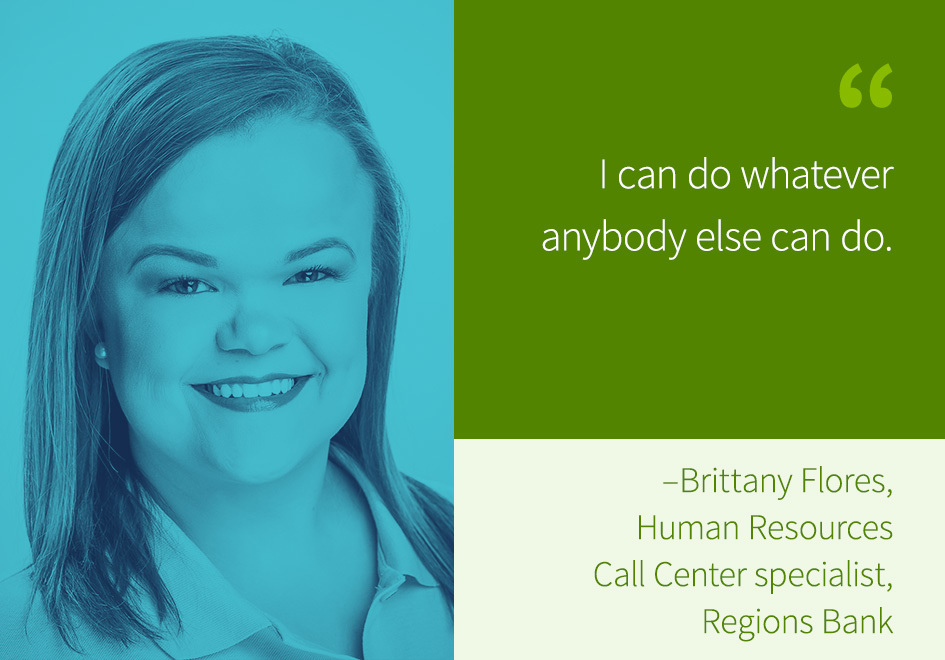 Brittany Flores, Human Resources Call Center specialist, Regions Bank