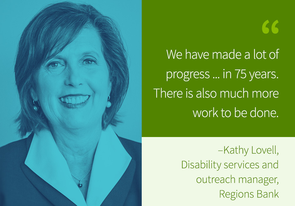 Kathy Lovell, disability services and outreach manager, Regions Bank