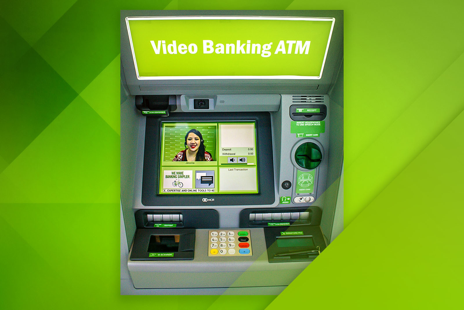 Regions' Video Banking ATMs connect customers via live, two-way video for personalized service during an expanded set of hours. The renovated West Tampa-Hillsborough location includes a walk-up Video Banking ATM in addition to drive-up DepositSmart ATMs.
