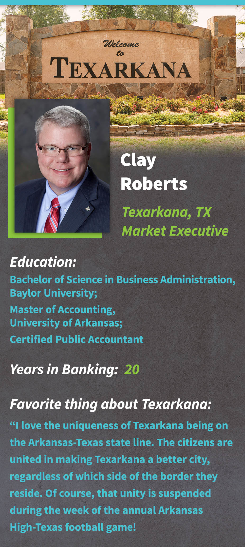 Clay Roberts infographic