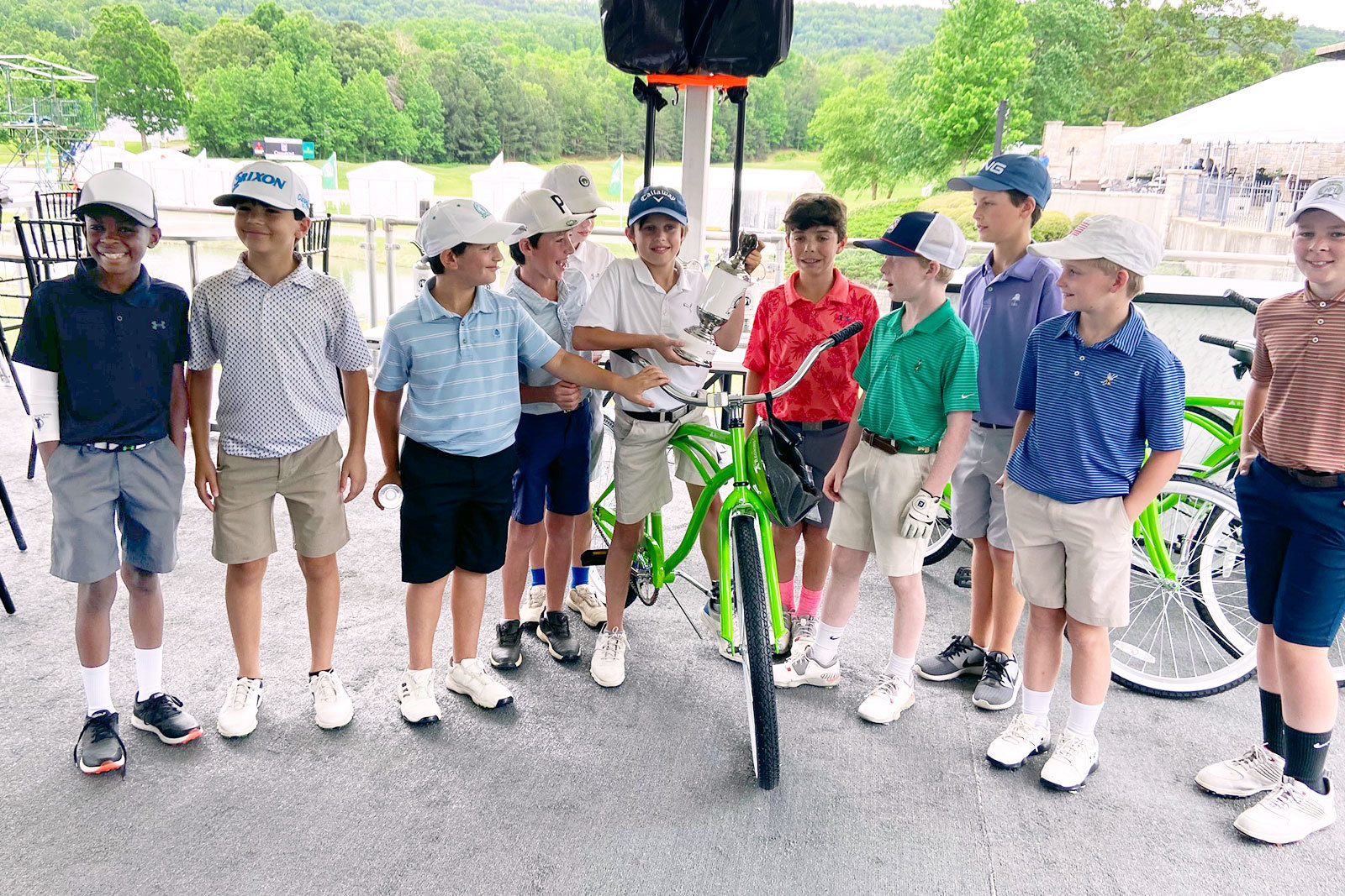 young golfers at the first Junior Regions Tradition