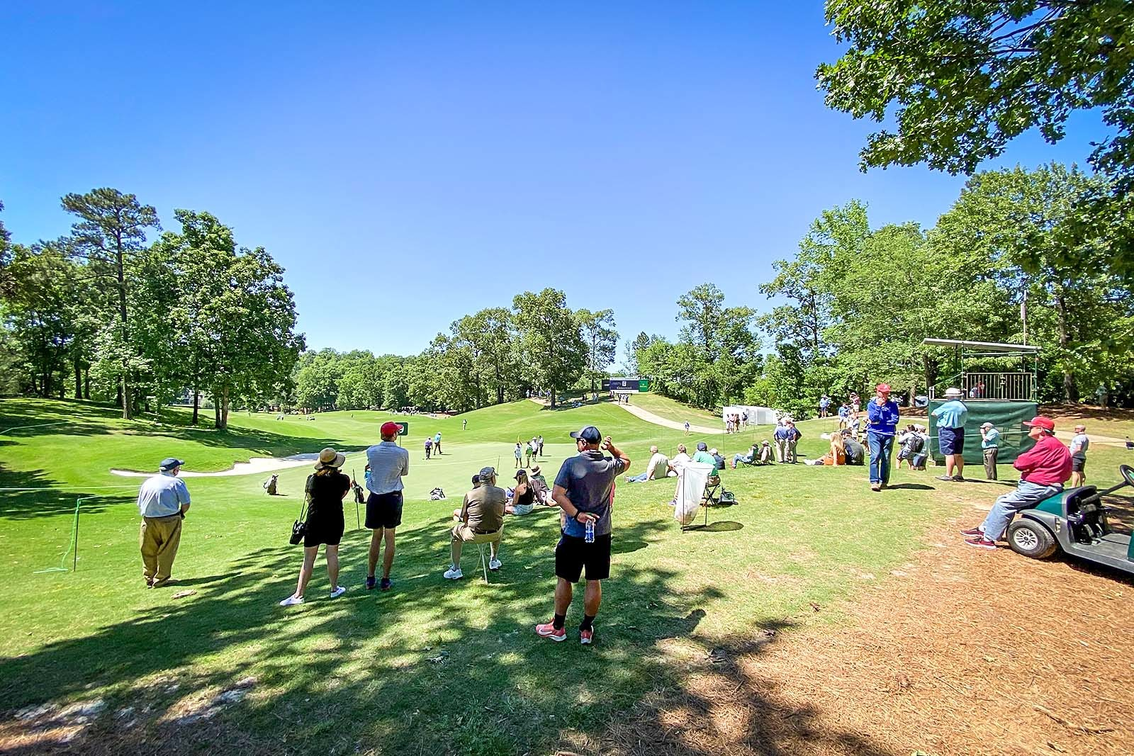 The audience at the 2021 Regions Tradition charity golf event