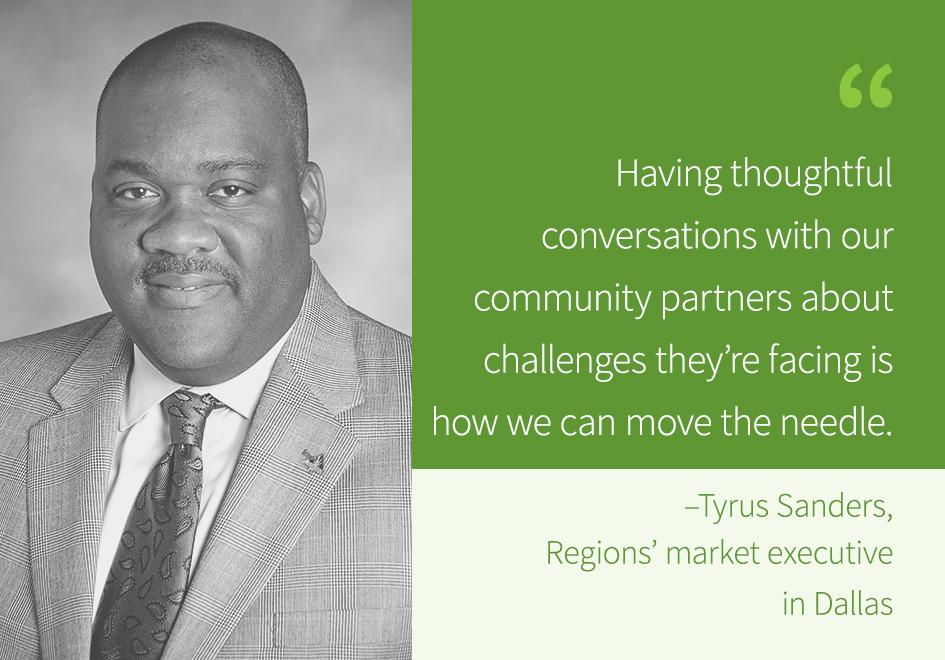 Regions Bank's Tyrus Sanders