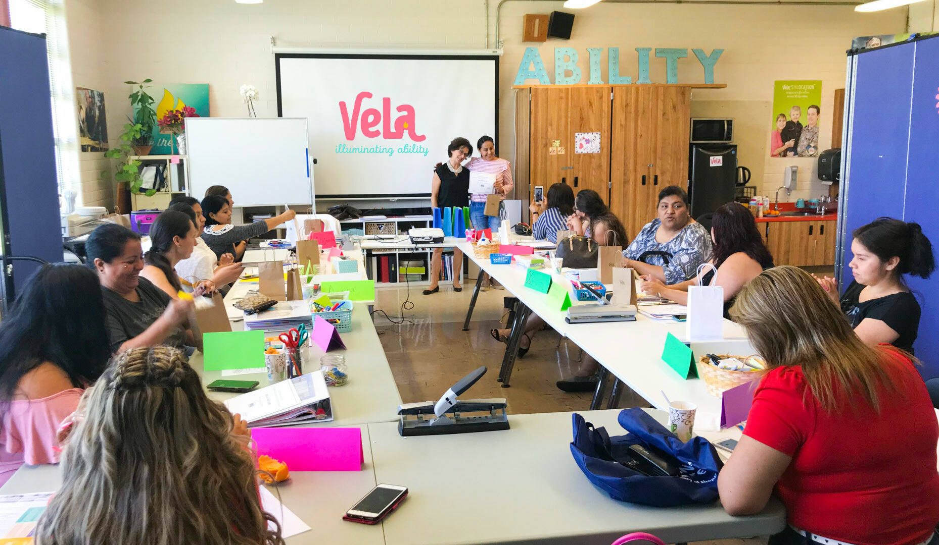 Photo of participants of the VELA program in a classroom